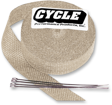 CYCLE PERFORMANCE PROD. EXHAUST PIPE WRAP WRAP EXH KIT METAL 2X25