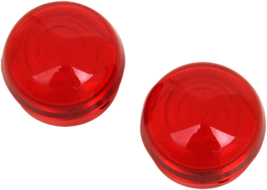 DRAG SPECIALTIES CHROME MARKER LIGHTS RED LENS FOR DS-282040/1