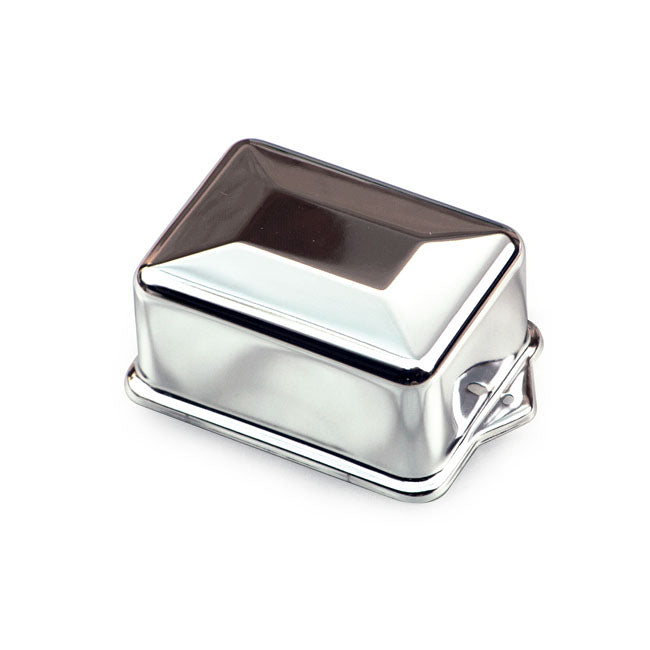 Chrome Regulator Cover, Delco Style For Harley-Davidson