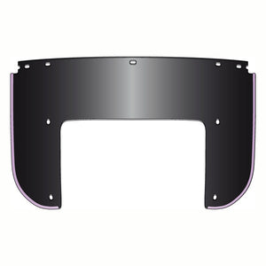 N.Cycle, Beaded Lower Window Black For Harley-Davidson