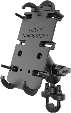 RAM Mount XL Quick Grip Phone Mount With U-Bolt Base RAM-B-149ZA-PD4