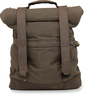 BURLY BRAND ROLL TOP BACKPACKS BACKPACK WAXED COTTON