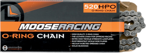 MOOSE RACING HARD-PARTS 520 HPO ODER RING CHAIN MSE 520 O-RNG CHN 100 PLT