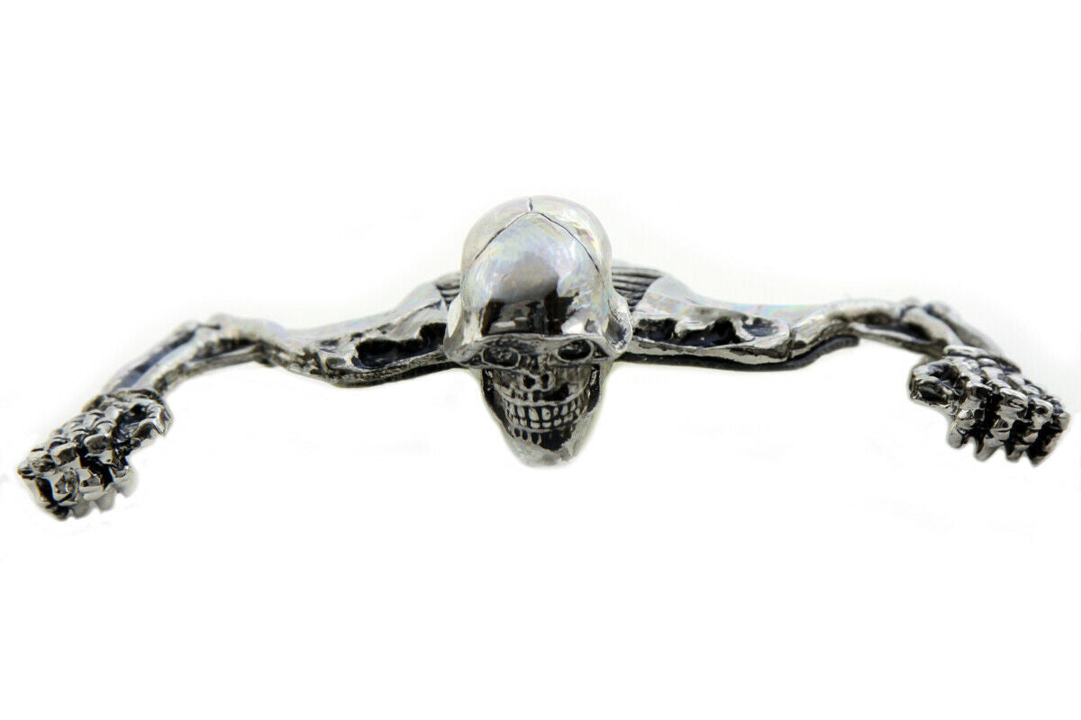 7  Headlamp Visor Ornament Skull Type Chrome For Harley-Davidson