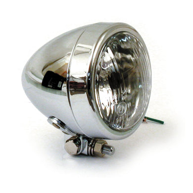 4 Inch Headlamp, Plain Bullet For Harley-Davidson