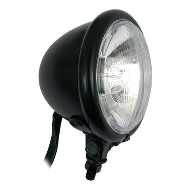 4 Inch Bates Style, Bilux Light, Black For Harley-Davidson