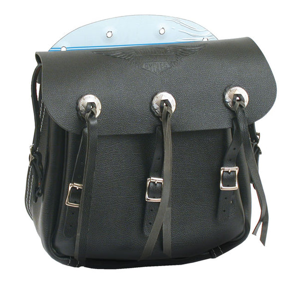 36-43 Style Saddlebags, Black For Harley-Davidson