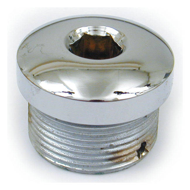 Xl Clutch Adj. Plug, Allen. Chrome For Harley-Davidson
