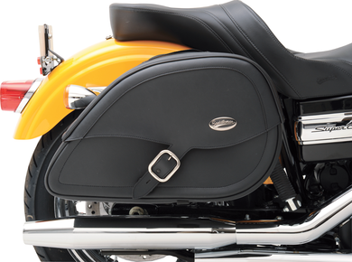 SADDLEMEN DRIFTER™ TEARDROP SADDLEBAGS WITH SHOCK CUTAWAY SBAG TRDRP DRF SHKCUT