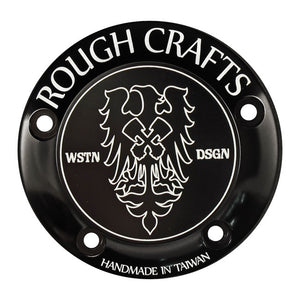 Rough Craft Point Cover Black, 5 Hole For Harley-Davidson
