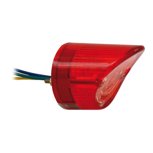 L.E.D. Sharknose Taillight, Red Lens For Harley-Davidson