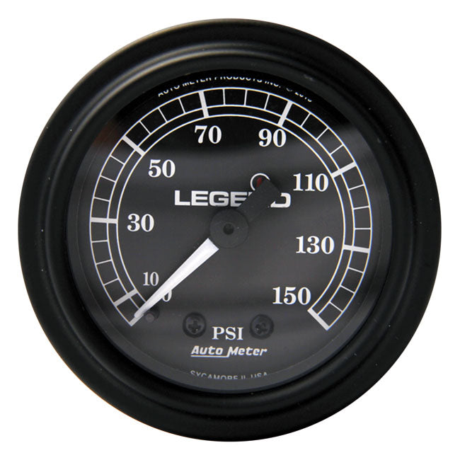 Air Gauge, Black For Harley-Davidson