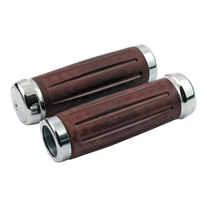 Riverside Bakelite Retro Grip Set, Chr. For Harley-Davidson