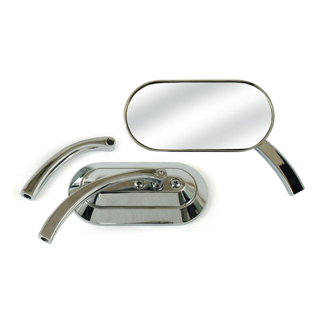 Custom Mirror, Oval, Left Or Right For Harley-Davidson