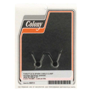 Colony Throttle & Spark Cable Clamp For Harley-Davidson