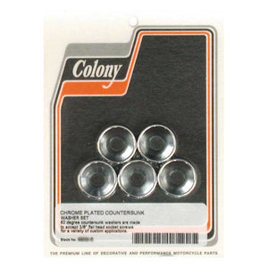 Colony Countersunk Flatwashers 3/8 Inch For Harley-Davidson