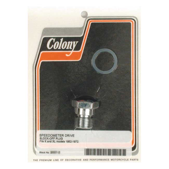 Colony Speedo Drive Block-Off Plug For Harley-Davidson