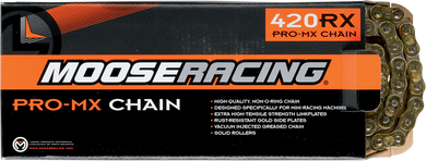 MOOSE RACING HARD-PARTS 428 RXP PRO-MX CHAIN MSE 420 RXP CHN 114 GLD