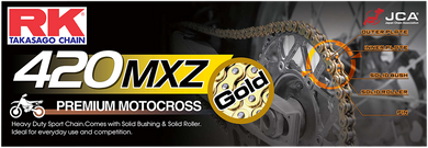 RK HEAVY-DUTY CHAINS (MXZ/MXZ4) RK GB420 MXZ X 104 LINKS