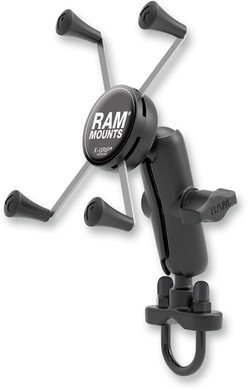 RAM MOUNT RAM HANDLEBAR RAIL MOUNT WITH U-BOLT BASE AND UNIVERSAL X-GRIP®​ FOR LARGE PHONE/PHABLET CRADLE KIT LG XGRIP & UBOLT