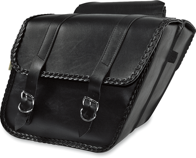 WILLIE & MAX LUGGAGE BRAIDED SLANT SADDLEBAGS SADDLEBAG, SLANT BRAID
