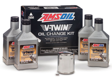 HDCK Amsoil 20W50 Synthetic V-Twin Motorcycle Oil Change Kit For Harley-Davidson