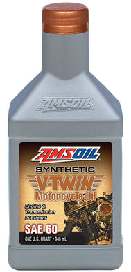 Amsoil AMCSQT SAE 60 Synthetic V-Twin Motorcycle Oil For Harley-Davidson 1929-1983