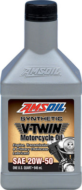 Amsoil 20W50 Synthetic V-Twin Motorcycle Oil For Harley-Davidson 1 Quart (946 ml)