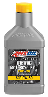 Aceite Amsoil MSR 10W-50 Synthetic Metric Motorcycle Oil 1 Quart