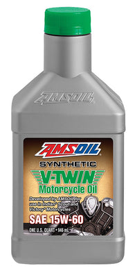 MSVQT Amsoil 15W60 Synthetic V-Twin Motorcycle Oil For Indian 1 Quart (946 ml)
