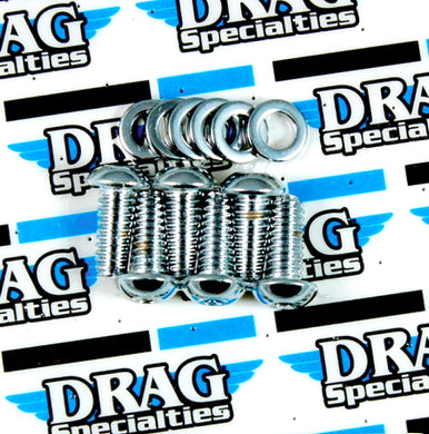 Chrome Derby Cover Screw Kit For Harley-Davidson Sportster  Made in USA Replaces OEM: 943, 94207-04 Fits 2004 and later XL models