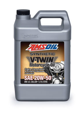 Amsoil 20W50 Synthetic V-Twin Motorcycle Oil For Harley-Davidson 1 Gallon (3.78 L)
