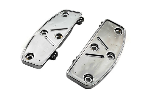 Extended Reach Rider Footboard Pans Traditional Shape For Harley-Davidson