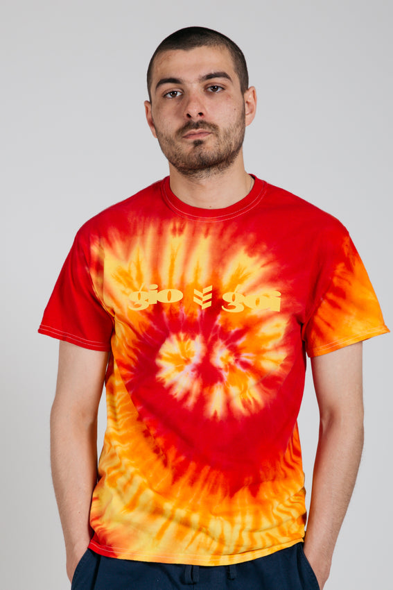 Ashworth Tie-Dye Tee - Red / Yellow