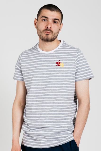 Gio Goi - Les Rayures Tee - striped Grey / White Main