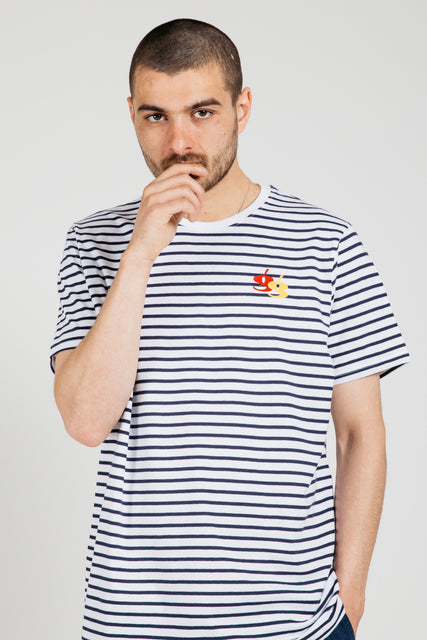 Gio Goi Les Rayures Tee Navy White stripes main