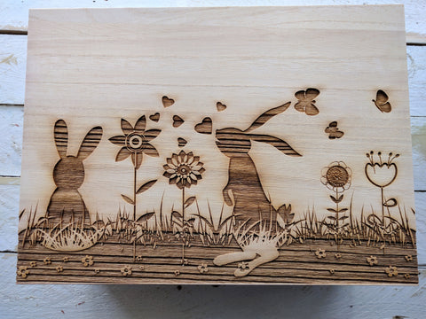 Personalised Large Memory Box (field design)