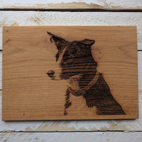 Engrave Your Own Photo Onto Wood (Large)