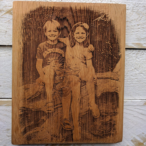 Engrave Your Own Photo Onto Wood (Medium)