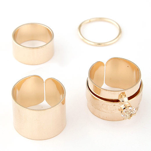 Set Midi Rings for Women Fashion  Gold/Silver Luxury Jewelry