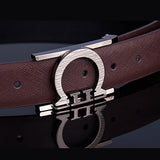 Men Design Belt  Candy Color Metal Buckle
