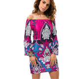 Print Long Women Blouse Shirt Camisa Feminina Summer Tops