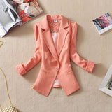 Spring Autumn New Fashion Seven Quarter sleeve Single Button Women
