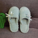 Women Ladies Lovely Cute Indoor Home Slippers Warm Cotton Shoes