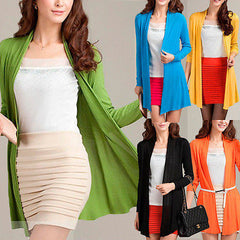 Cardigan Women Candy Color Knitted Outwear Long Sleeve