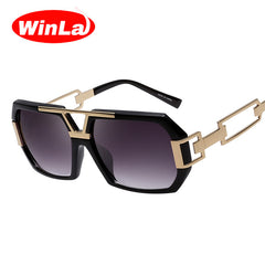 Fashion Unique Sunglasses For Women Men Double-Bridge Gradient Color