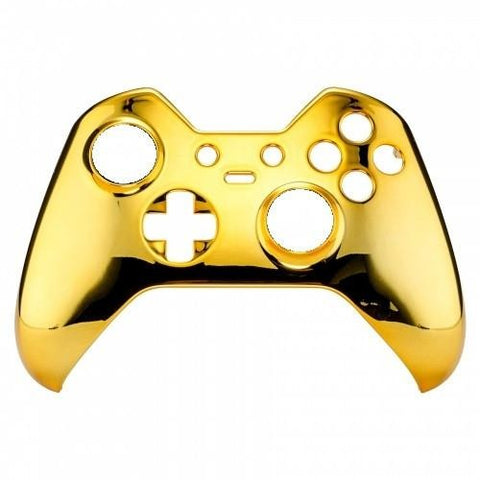 Brand New Xbox One Elite Custom Chrome Gold Front Shell Hydrodipped by Primzstar