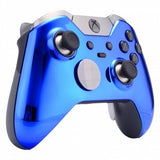 Brand New Xbox One Elite Custom Chrome Blue Front Shell Hydrodipped by Primzstar