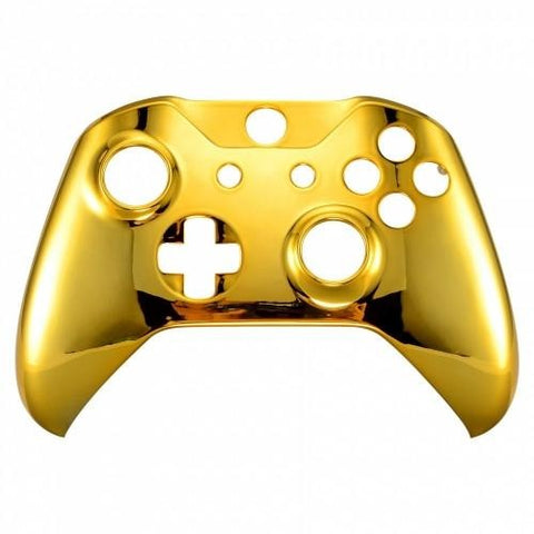 Brand New Xbox One S Custom Chrome Gold Front Shell Hydrodipped by Primzstar Mod
