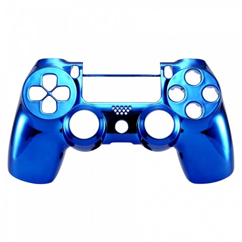 Brand New PS4 Slim/Pro JDS 040 V2 Controller Chrome Blue Custom Front Shell